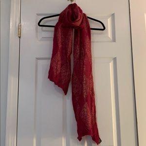 Banana republic metallic knit scarf